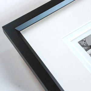 black beveled frame